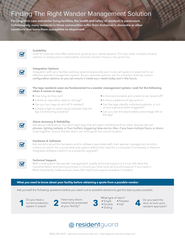 ResidentGuard Checklist