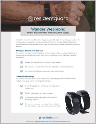 Wander Wearable Information Sheet